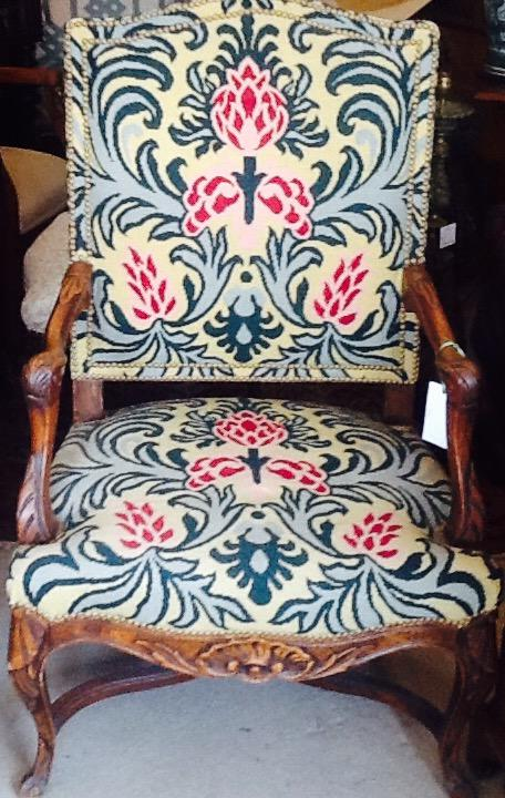 19C FRENCH NEEDLEWORK CHAIR