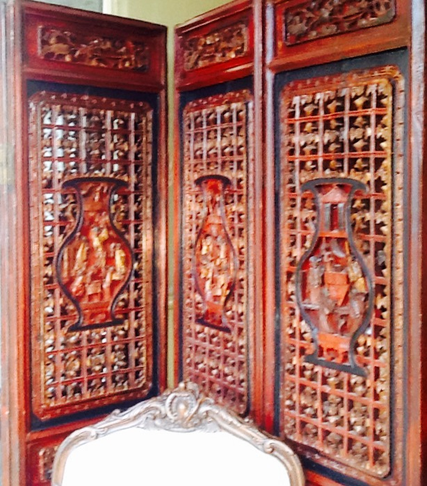 19th Century Carved Chinese Screen