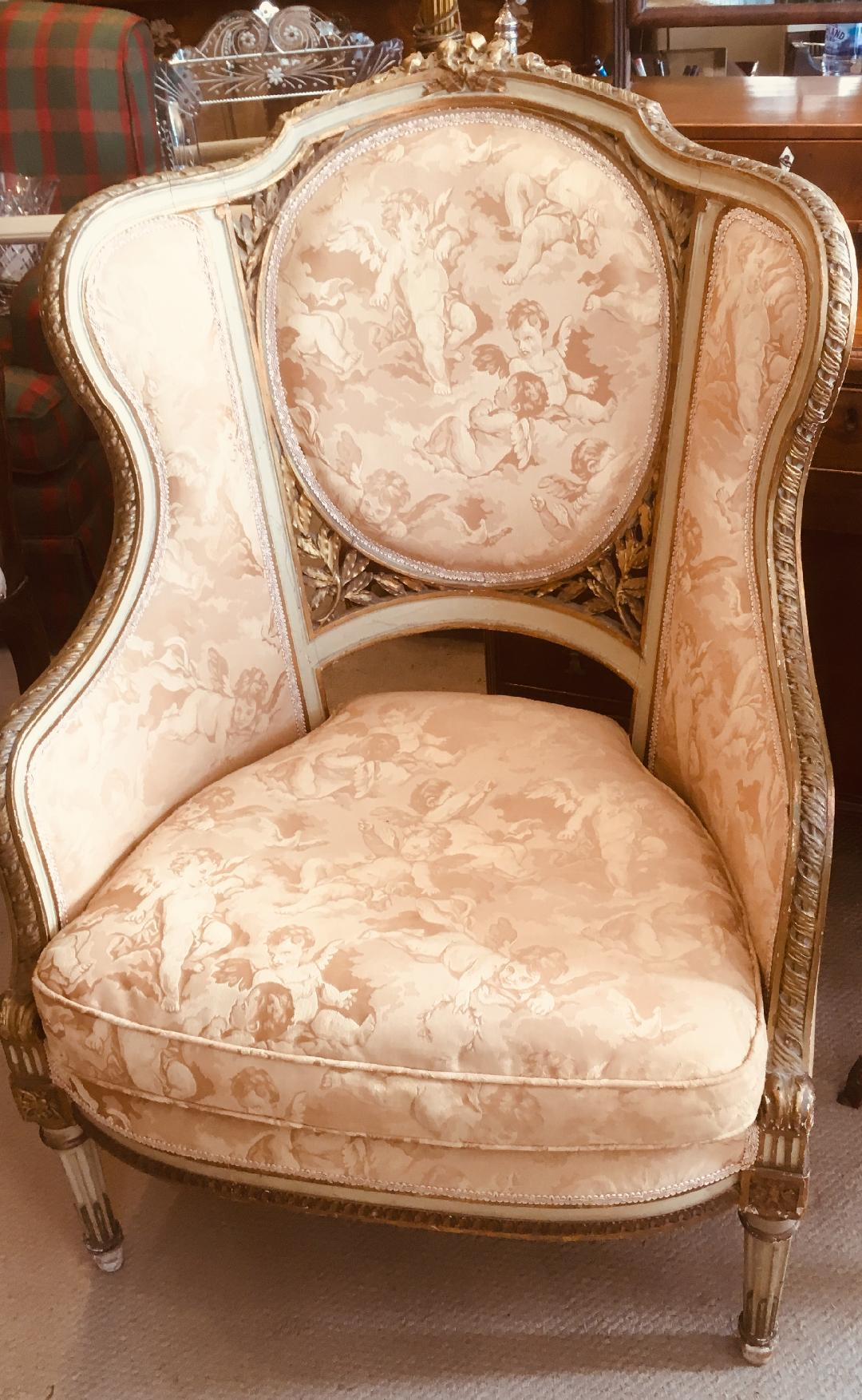 19TH CENTURY FRENCH WING CHAIR