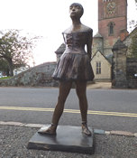 Bronze 'Degas' Statue of ballet dancer