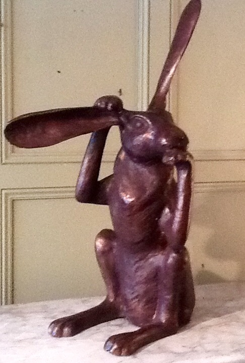Bronze Figure of Hare - Comtemplating