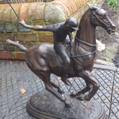 Bronze Figure of Polo Player