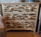 Chest of Drawers with Fish Motifs