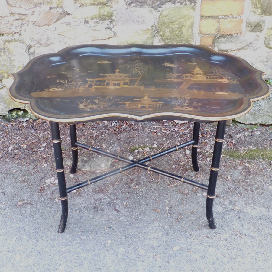 Lacquer Regency Tray Top Coffee Table Antique The Sold Items