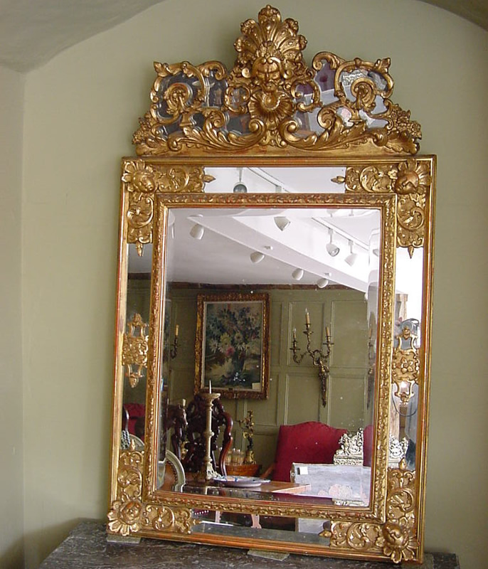 Large gilt italian wall mirror antique mirrors for Big mirrors for sale