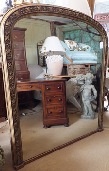 Large Gilt Overmantle Mirror