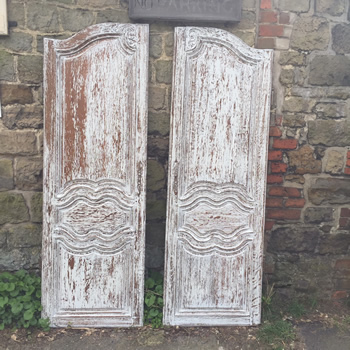 Pair of French Provence Doors
