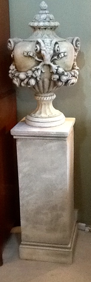 Pair of French Urn on Plinths