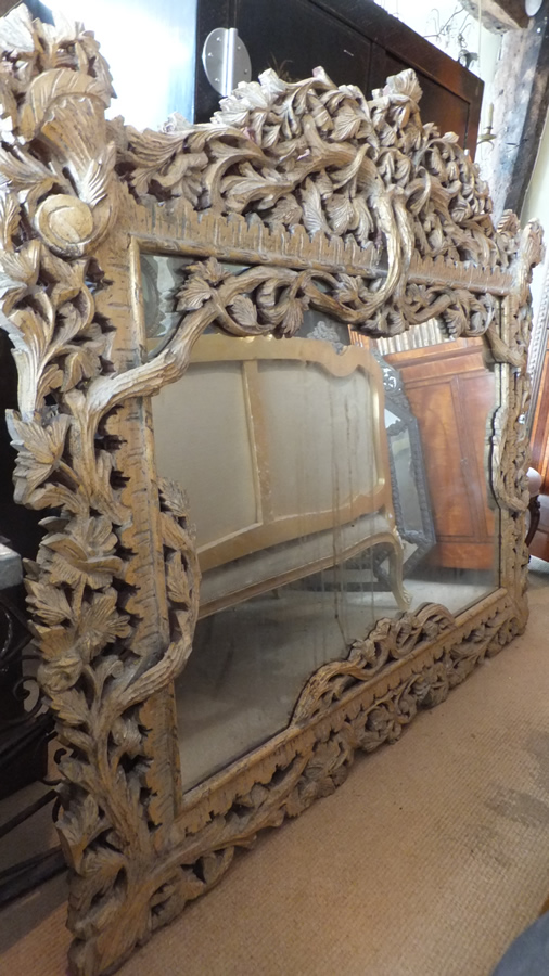 Large carved mirror antique mirrors Large wooden mirrors for sale