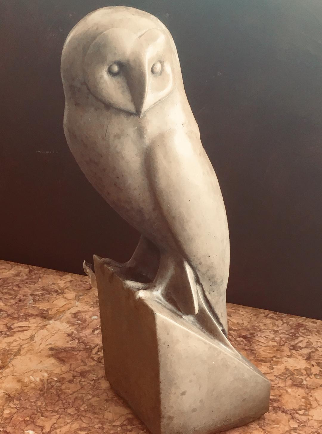Stone Statue of Owl