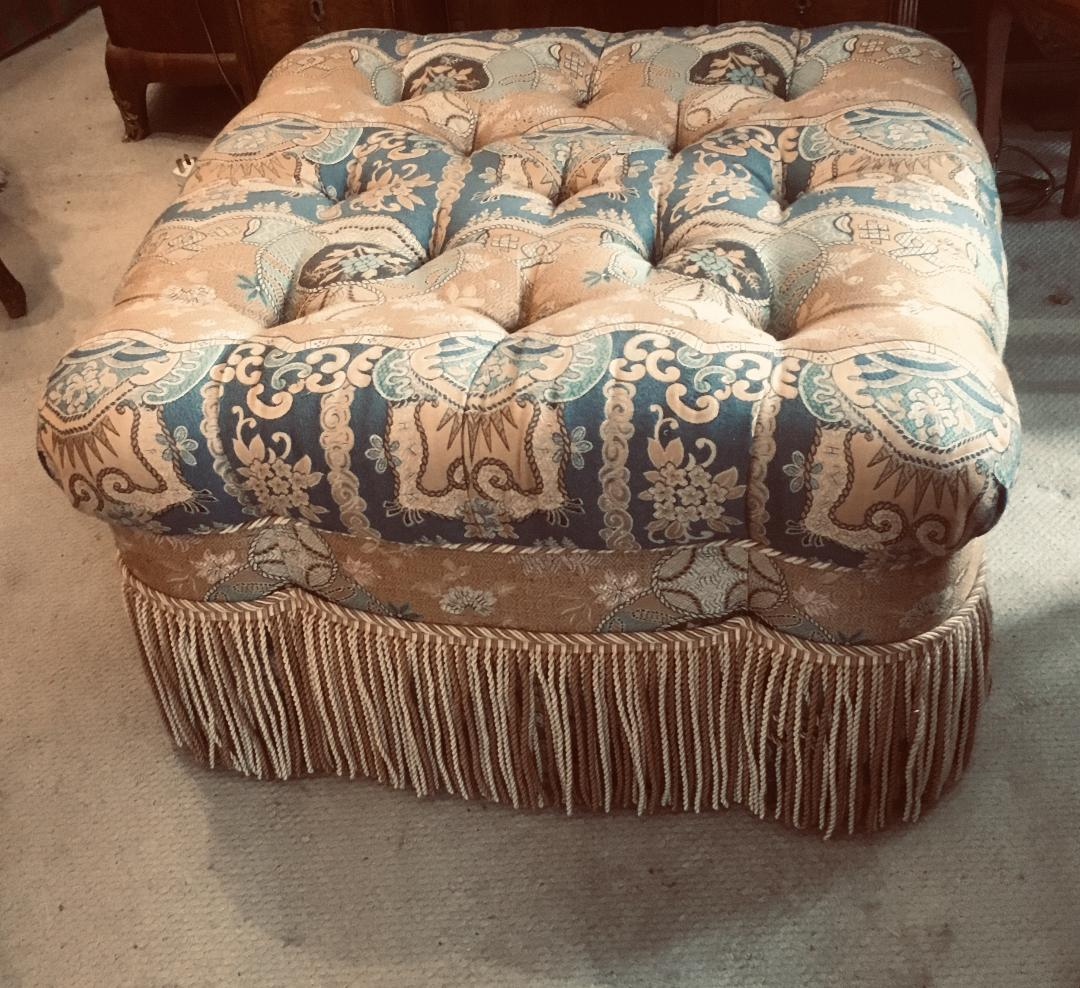 Victorian Style Pouffe/Footstool